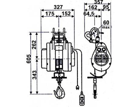 Таль стационарная HXS-250F г/п 0,25 т, в/п 20 м