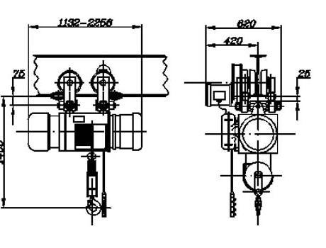 Таль электрическая (передвижная), г/п 3,2 т