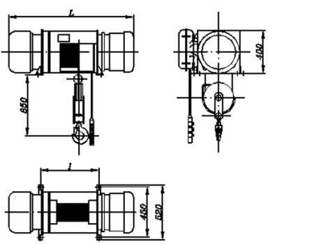 Таль электрическая (стационарная), г/п 3,2 т