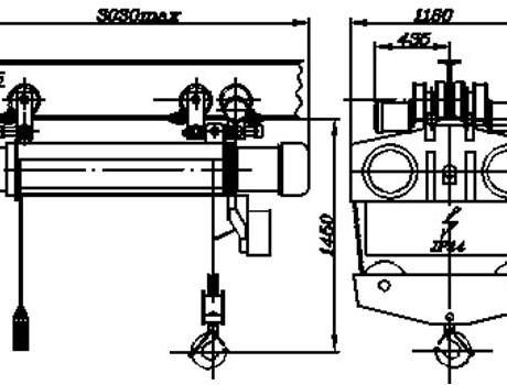 Таль электрическая (передвижная двухбарабанная), г/п 5 т