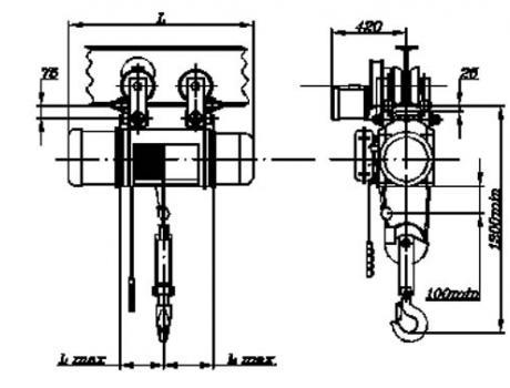 Таль электрическая (передвижная), г/п 5 т