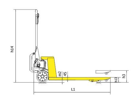 Гидравлическая тележка BFA, г/п 2,5 т