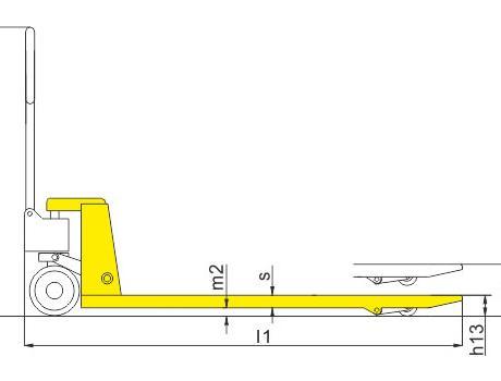 Гидравлическая тележка BFL10, г/п 1т
