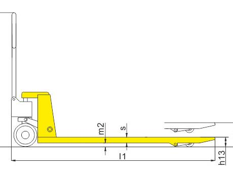 Гидравлическая тележка BFS, г/п 2,5т