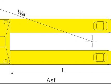 Гидравлическая тележка BFZ, г/п 2т, ширина вил 320мм