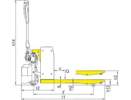 Тележка самоходная CBD10A-II, г/п 1 т