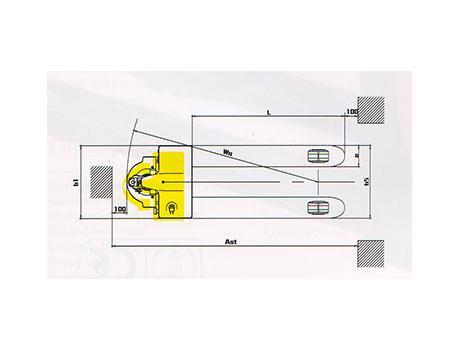 Тележка самоходная CBD15A, г/п 1,5 т