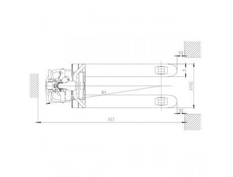 Тележка самоходная CBD15W-li, г/п 1,5 т с двумя батареями