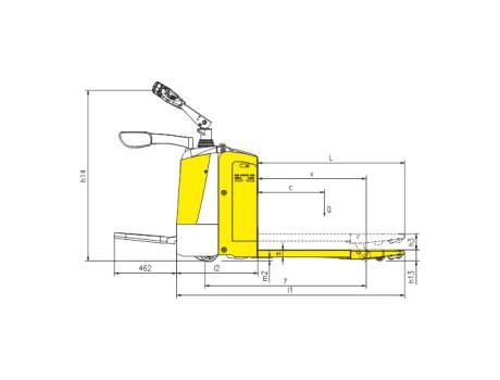 Тележка самоходная CBD25R-I, г/п 2,5 т