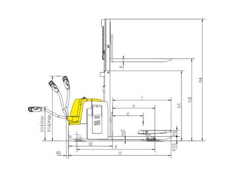 Тележка самоходная CBD20S-III, г/п 1-2 т