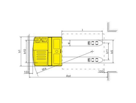 Тележка самоходная CBD20Z, CBD25Z, г/п 2-2,5 т