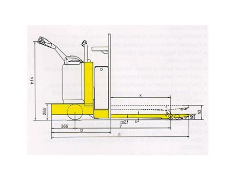 Тележка самоходная CBD25T, CBD30T,  г/п 2,5-3 т