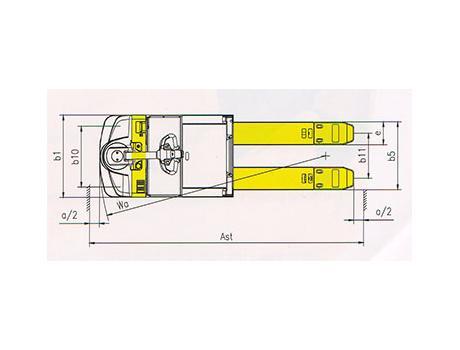 Тележка самоходная CBD30Q, г/п 2-6,6 т
