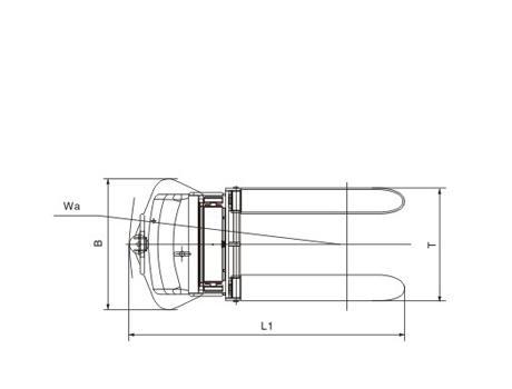 Полуэлектрический штабелер CDD10B-III (KX), г/п 1000 кг (регулируемые вилы)