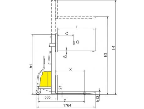 Полуэлектрический штабелер CDD10B, г/п 1000 кг