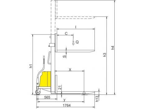 Полуэлектрические штабелеры CDD10B, CDD15B, г/п 1000-1500 кг