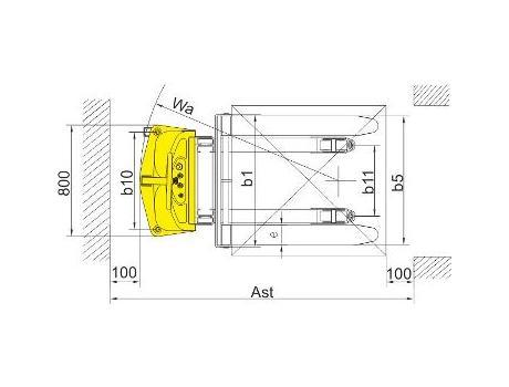 Полуэлектрический штабелер CDD10B-III, г/п 1000 кг (фиксированные вилы)