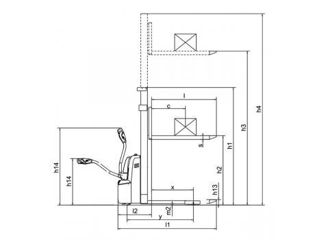 Cамоходный электроштабелер CDD12R-E г/п 1200 кг