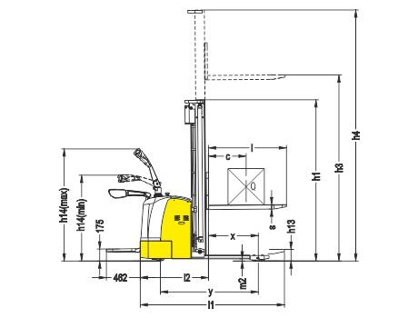 Самоходный электроштабелер модели CDDK15-III, г/п 1500 кг, в/п 3300 мм
