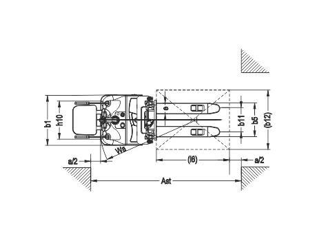 Самоходный электроштабелер модели CDDK15-III, г/п 1500 кг, в/п 3500 мм