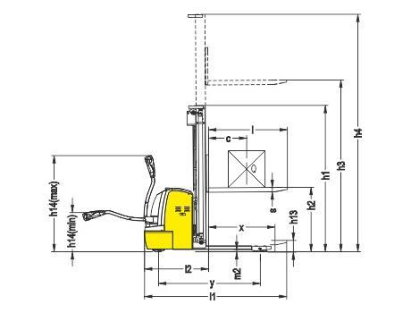 Самоходный электроштабелер CDDR15-III, г/п 1500 кг, в/п 3300 мм