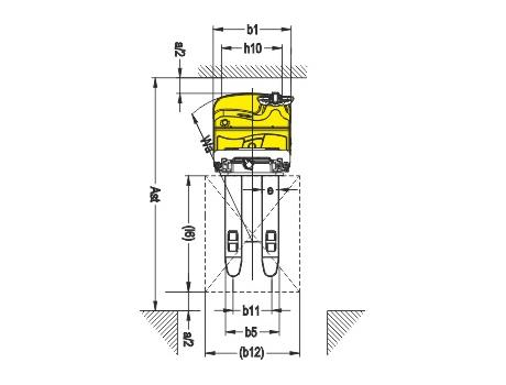 Самоходный электроштабелер CDDR15Z-I, г/п 1500 кг, в/п 4500 мм