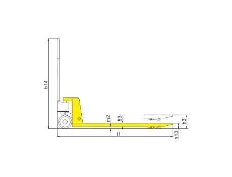 Гидравлическая тележка DB, г/п 2т, длина вил 800 мм