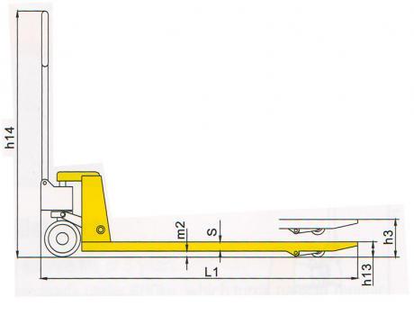Гидравлическая тележка DF-III, г/п 2,5т