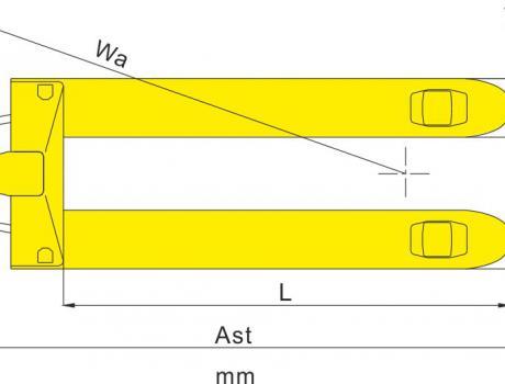 Гидравлическая тележка DF-III, г/п 2,5т с короткими вилами 800мм
