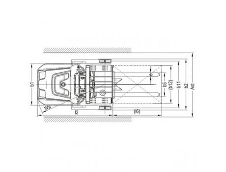 Штабелер-комплектовщик заказов OPS15 (в/п 7000 мм)
