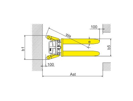 Ручной штабелер SDJ1000, г/п 1000 кг, в/п 1000 мм