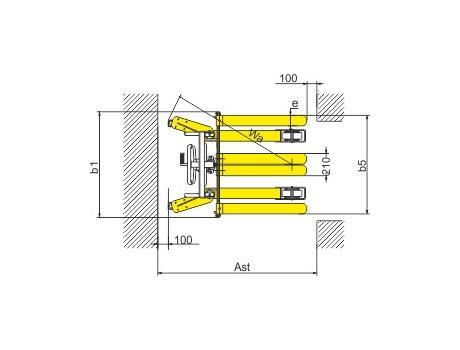 Ручной штабелер SDJA-I-1000, г/п 1000 кг, в/п 2500 мм
