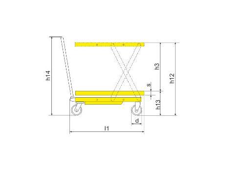 Подъёмный стол SP150