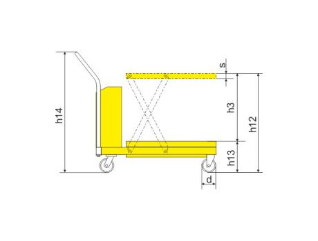 Подъёмный стол SPTJ500