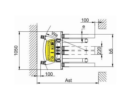 Полуэлектрический штабелер CDD1016BA, г/п 1500 кг