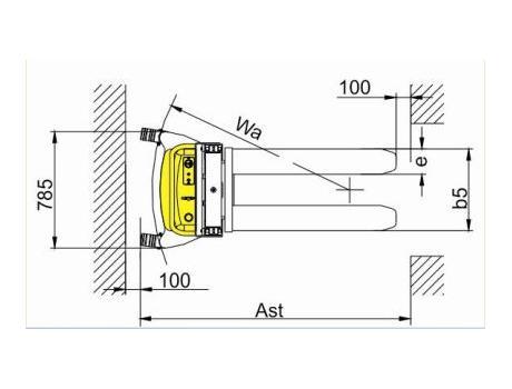 Полуэлектрический штабелер CDD1030BA, г/п 1000 кг
