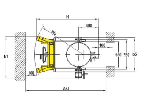 Бочкокантователь YTD-35 в/п 2385 мм