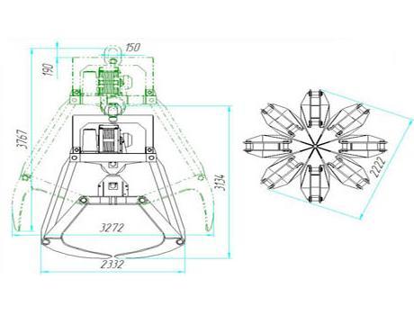 Грейфер модели ДГМ8-10-Т1-1,5