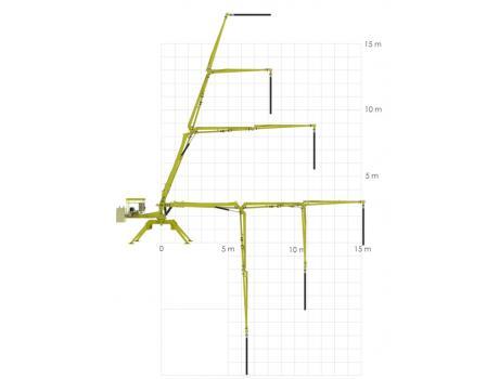 Бетонораздаточная стрела Atabey B 15 - рабочая схема