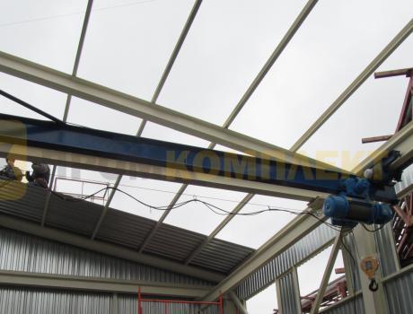 Кран-балка электрическая подвесная г/п 3,2 тонны пролет 3 - 4,2 м