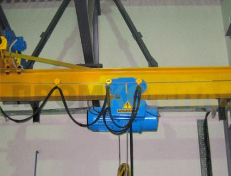 Кран-балка электрическая подвесная г/п 3,2 тонны пролет 9 м