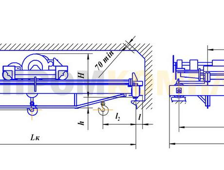 Кран мостовой двухбалочный ручной г/п 1-10 тонн