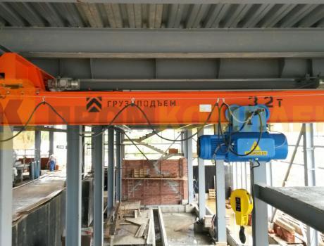 Кран-балка электрическая подвесная г/п 5 тонн пролет 9 м