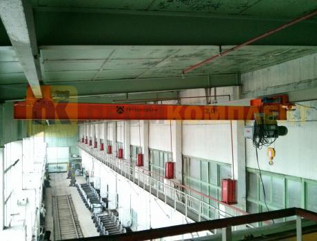 Кран-балка электрическая подвесная г/п 1 тонна пролет 6 - 9 м