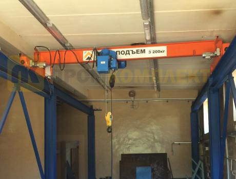 Кран-балка электрическая опорная г/п 1 тонна пролет 22,5 метров