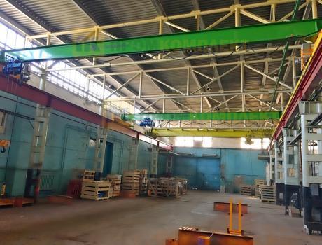 Кран-балка электрическая опорная г/п 1 тонна пролет 10 м