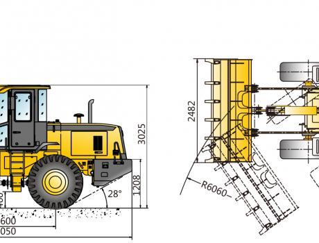 XCMG LW300FN - габариты