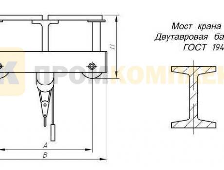 Кран-балка электрическая опорная г/п 3,2 тонны пролет 4,5; 7,5 м