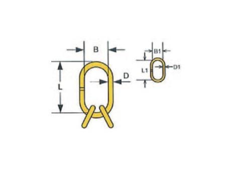 Подъемные звенья для 3- и 4-ветвевых строп цепных - габаритная схема