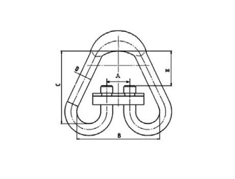 Разъемное звено типа Рт3 - габаритная схема